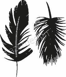 2613-Stämpel  Fjädrar små