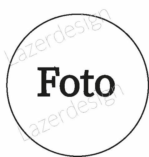 8135-Gummistämpel Foto cirkel