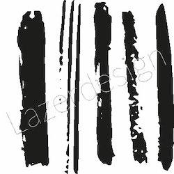 2621-Stämpel  Penseldrag
