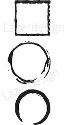 2623-Stämpel  cirkel kvadrat