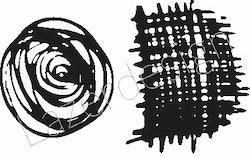 2625-Stämpel  ros tygbit