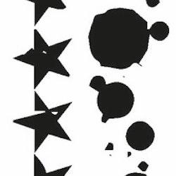 2647-Stämpel  Kantbård Stjärnor -  splash