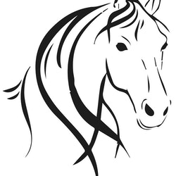 3223 - Stencil Häst