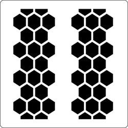 3218 - Stencil honeycomb