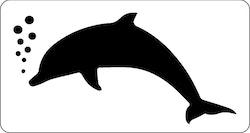 3274 - Stencil  Delfin