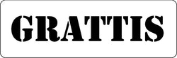 3276 - Stencil  GRATTIS