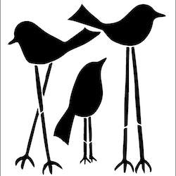 3280 - Stencil Fåglar