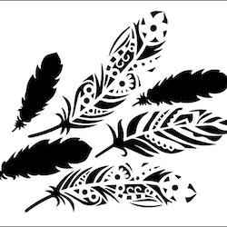 3288 - Stencil Fjädrar