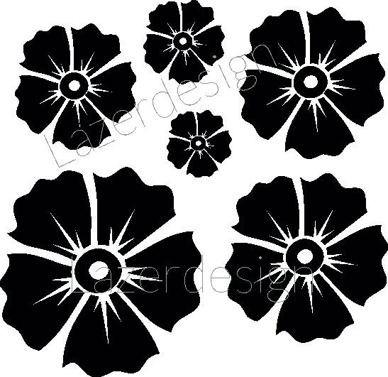 1180-Stämpel Blommor
