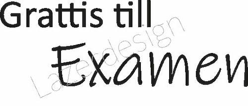 663-Stämpel  Grattis till Examen