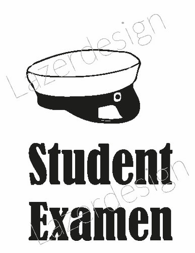666-Stämpel  Student Examen liten