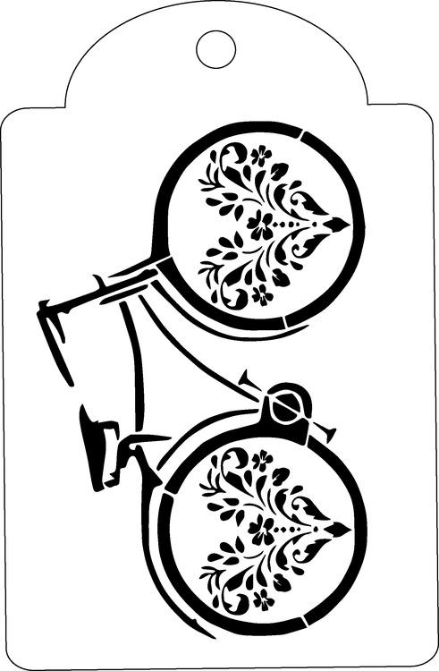 3294 - Stencil Cykel