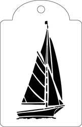 3298 - Stencil segelbåt