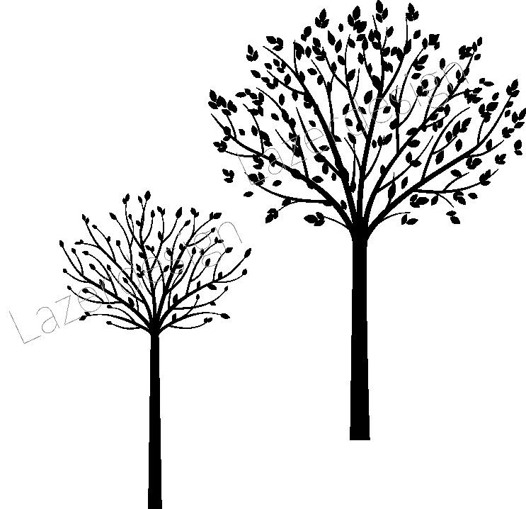 14172-Gummistämpel  Träd 2 storlekar