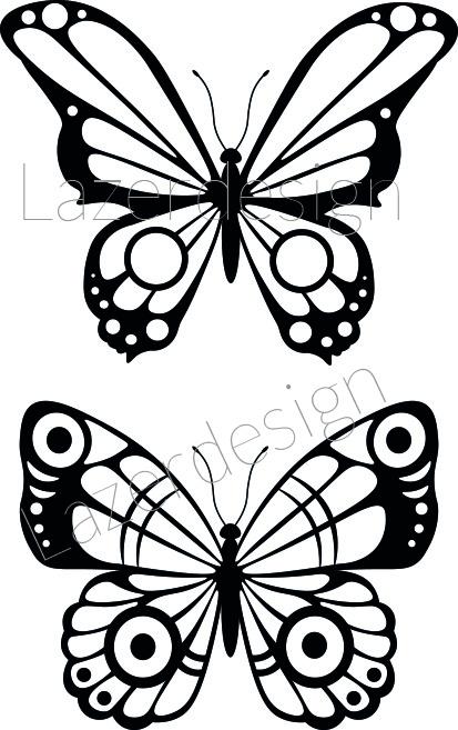 2652-stämpel 2 Fjärilar