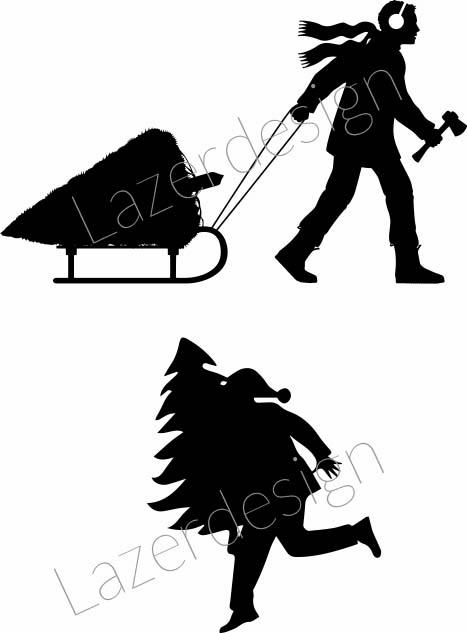 12140 -Stämpel Hämtat julgranen
