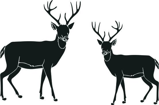 12124 -Stämpel Hjortpar