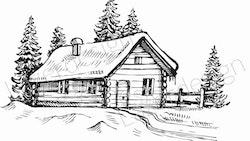 14177-Stämpel vinterhus