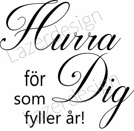 449-Stämpel Hurra för Dig.....
