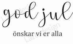 24163-Stämpel God Jul önskar.....