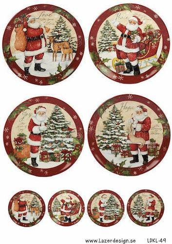 LDKL-49 klippark A4 Vintage Christmas