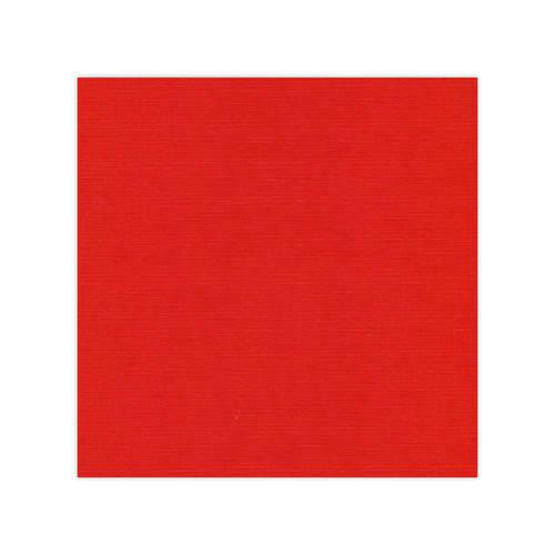 582034 Cardstock Linnestruktur Julröd