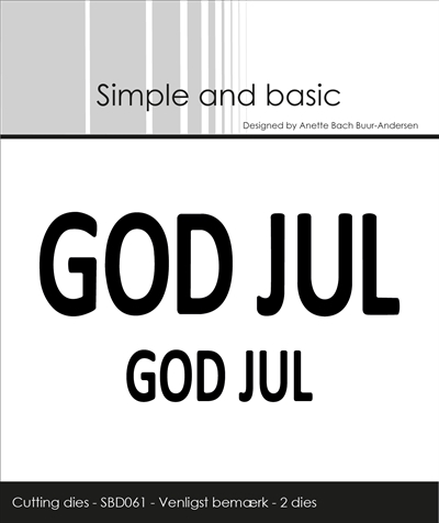 SBD061  Dies God Jul 2 storlekar Simple and basic