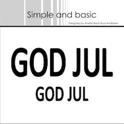 SBD061  Dies God Jul 2 storlekar Simple and basic