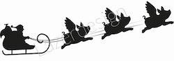12151-stämpel Tomtesläde med grisänglar