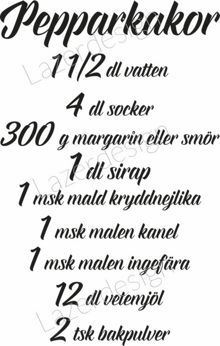 24172-stämpel recept Pepparkakor