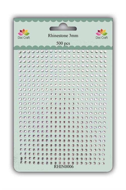 RHIN0006 Rhinestone 500 st 3 mm klara