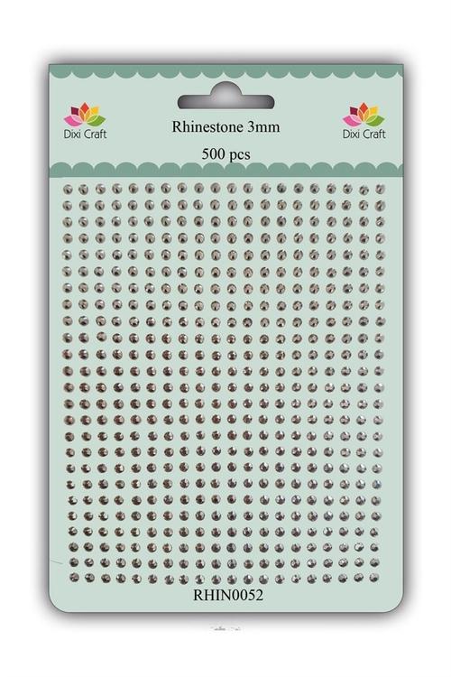 RHIN0052 Rhinestone 500 st 3 mm antique silver