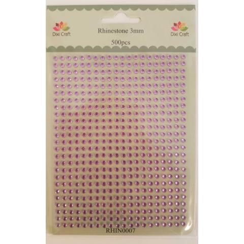 RHIN0007 Rhinestone 500 st 3 mm rosa