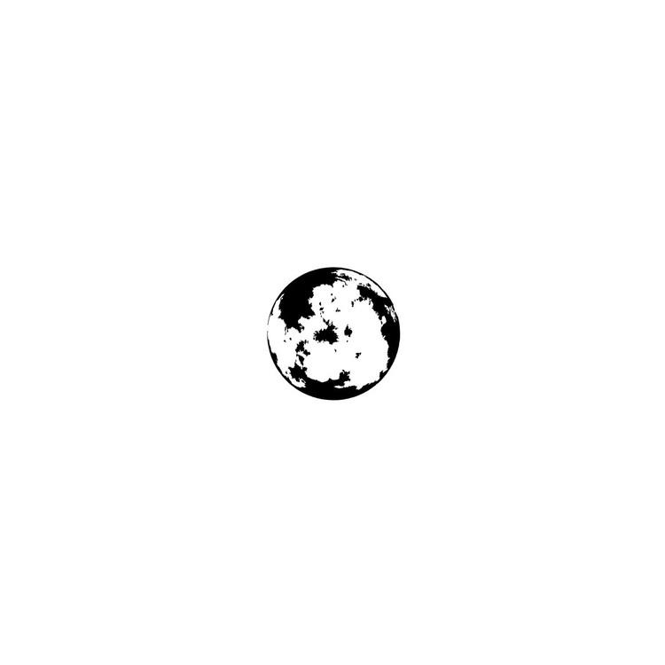 1586-Gummistämpel  Måne 2 cm