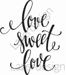 2047-Gummistämpellove sweet love