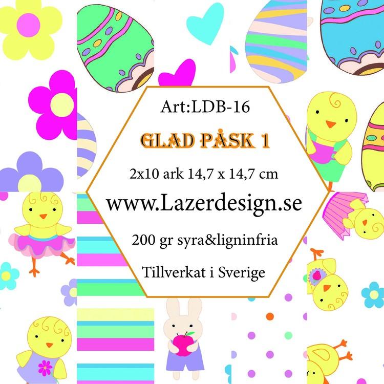 LDB-16 Pappersblock GLAD PÅSK 1