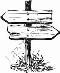 14193-Stämpel skylt i trä