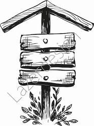 14194-Stämpel skylt i trä