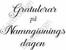 675-stämpel Gratulerar på Namngiv.....