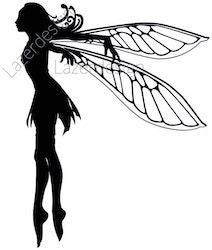 1713-Stämpel Älva Fairy