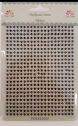 PEARL0025 Halvpärla 500 st 3 mm Svart