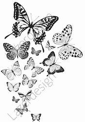 14217-Stämpel fjärilar