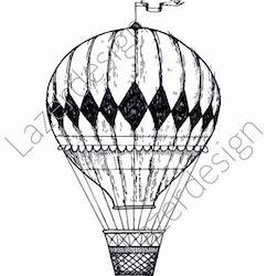 14213-Stämpel Luftballong
