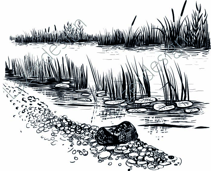 14207-Stämpel Vattenbryn