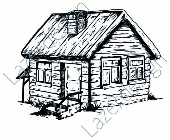 14211-Stämpel Hus