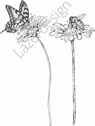 14214-Stämpel Växter blommor i bin
