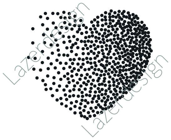 241-Stämpel prickigt Hjärta