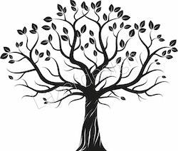 14219-Stämpel Träd