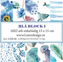 LDB-06 Pappersblock BLÅ BLOCK 1