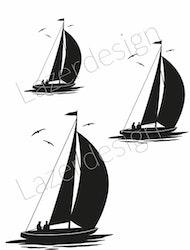 14220-Stämpel Segelbåtar